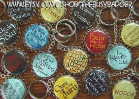 Game of Thrones inspired Keychains by StephaniePride