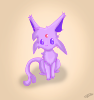 lil espeon by Bandannamania