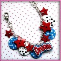 Dream Button Charm Bracelet by wickedland