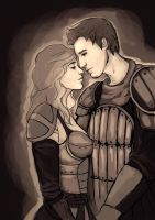 Commision: Alistair and Cousland by MassEffectFan2013