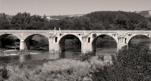 The Bridge of Kolyu Ficheto 2 bw by lapis-lazuri