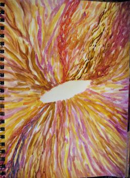 Abstract Eye, Browns and Yellows, Sketch, 2015 by misterwackydoodle
