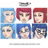 Portraits May 2014 by DoncellaSuicide
