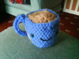 amigurumi coffee by LaurelineLauren
