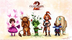 Guild Wars 2: The Races of Tyria by Manticora-Miorro