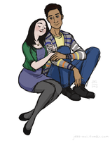 Annie and Abed by DaiskiAnimeJ