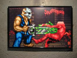 Perler Splatterhouse by Dlugo1975