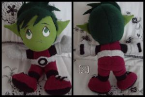 BeastBoy the Plushie by VesteNotus