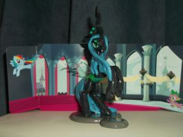 Queen Chrysalis Laptop Hugger (Right Side) by DeadHeartMare