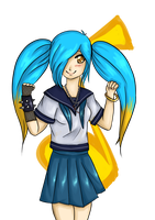 Gakuen of Legends: Sona by Blaise-Pastel
