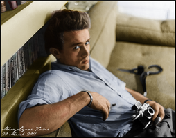James Dean with Camera by MissyLynne