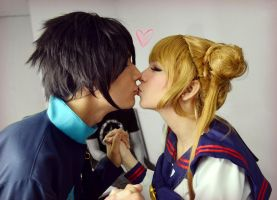 Seiya Kou and Usagi Tsukino Cosplay - Kiss by SailorMappy