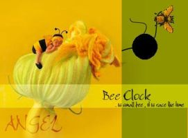 bee and clock by jojeangel