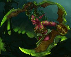 Night Elf Demon Hunter by Phosphonian