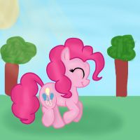 Pinkie Pie Bouncing by TayBlossom
