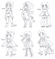 Achievement Hunter Minecraft Outfits by Chibi-Castform