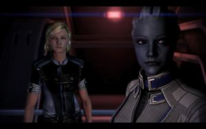 ME3 Normandy - Kim Shepard and Liara 1 by chicksaw2002
