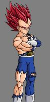 Vegeta SSJG, Battle Damaged by theothersmen