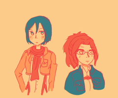 Pallet #9: Mikasa and Hange by mistwolf98