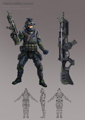 Infantry soldier by DinoDrawing