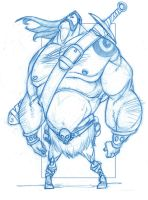 Barbarian with Attitude by KingOlie