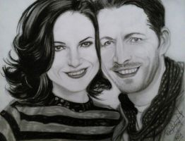 OutlawQueen Sean Maguire and Lana Parrilla by patydurcal