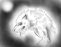 White lycan by FuriarossaAndMimma
