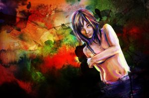 Colorful Asian Woman Painting by studiomuku
