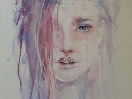 Visage aquarelle by cecile52000