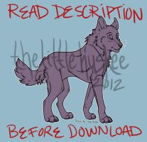 Wolf Lineart (READ DESCRIPTION BEFORE DOWNLOAD) by b0h3m3