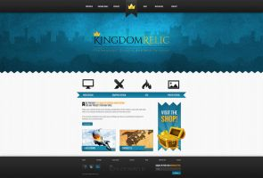 KingdomRelic Website Design -OLD- by Xiox231