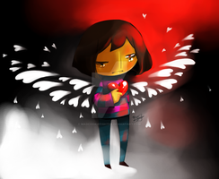 Undertale - Two-faced Angel by MadCookiefighter