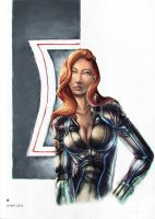 Black Widow copic color by cric