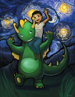 Dragon and Boy by James-S-Flynn