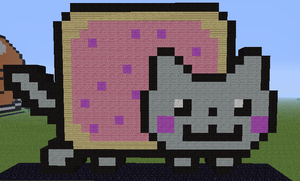 Minecraft - Nyan Cat by Unstable-Life