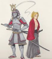 Samurai Elric brothers by scatter-muse