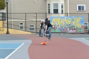 The Skateboarder Trick, Up and Over 2 by Miss-Tbones