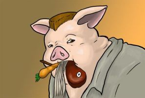 Pig Out by demonsaintdante