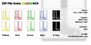 Zip File icons COLORPACK by bezem049