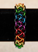 Rainbow Japanese Stretch Bracelet by DracoLoricatus
