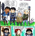 Dragon Age sketches by WhatItMeansToBeHuman