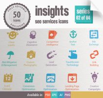 Insights SEO Services Icons - Series 02 of 04 by kh2838