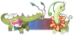 Mega Meganium Alpha and Omega - Fanmade by ManiacalMew