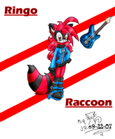 sonic fan charac:Ringo Raccoon by kittycatchan