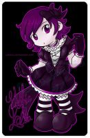 Commission:Chibi Gothic Lolita by Lumaga