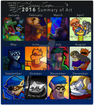 2016 Summary of Art by JennissyCooper