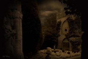 The gothic garden by Sad-Fantasy