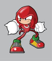 knuckles the echidna by Dee9922