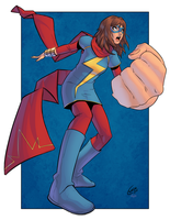Ms. Marvel(Kamala Khan) Collaboration by Mro16