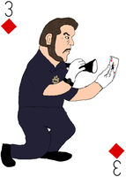 Gil Grissom (from CSI) Playing Card by JenniBee
